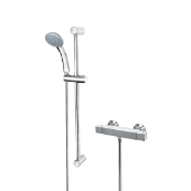 Cascade Edge Bar Shower with Adjustable Riser Kit