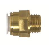 JG Speedfit brass male coupler 15mm x 1/2""