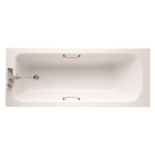 Ideal Standard Sandringham 21 bath including twin grips and tread 1700mm White