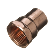 End Feed Straight Female Iron Connector 15mm x 1/4""