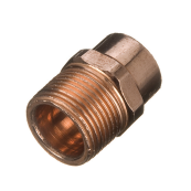 End Feed Straight Male Iron Connector 15mm x 1/4""