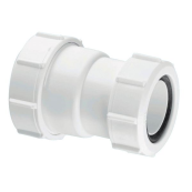 McAlpine ST28M straight connector 1.1/2 x 1.1/4""