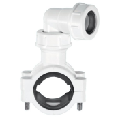 "McAlpine CLAMP1WH pipe clamp 1.1/2"" x 1.1/4"" x 22mm White"