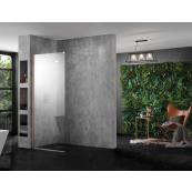 INSPIRA AQUA Wetroom Panel Clear 800 10MM GLASS