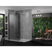 INSPIRA AQUA Wetroom Panel Smoked 600 10MM GLASS